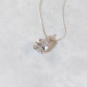 Jewelry - Created White Sapphire 5.8 Carats Pendant w/Chain